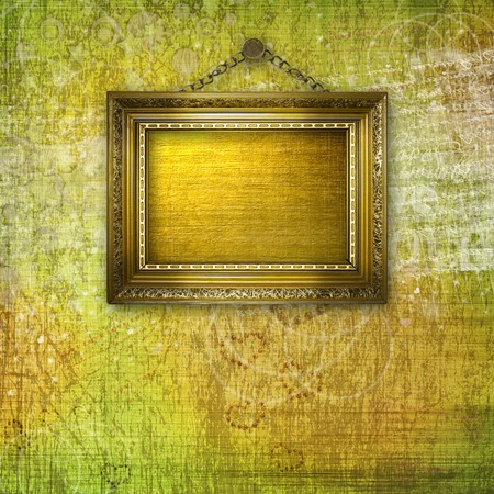 grunge  inter with frames in style baroque Stock Photo - 7361500