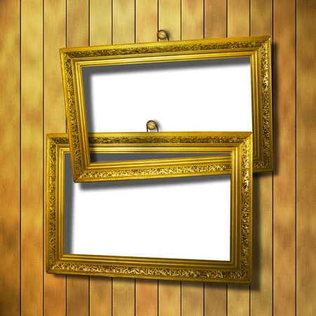 grunge  inter with frame in style baroque Stock Photo - 7441674