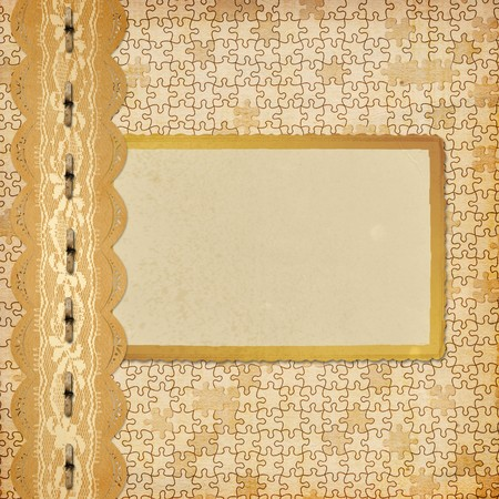Vintage album with frame and ornate lace Stock Photo - 7554764