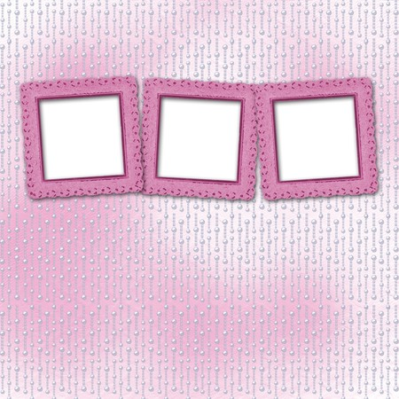 Card for invitation or congratulation on the pearl pink background photo