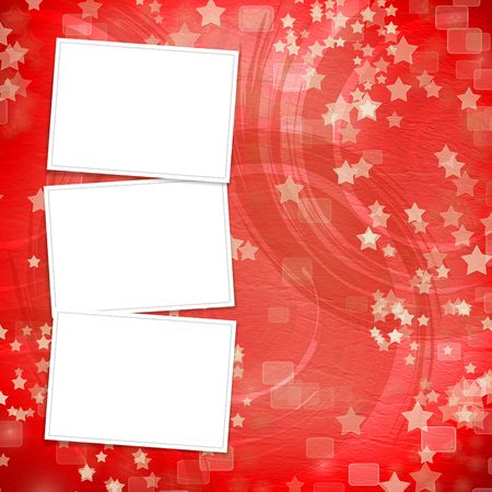 multicoloured backdrop for greetings or invitations with frames and stars Stock Photo - 7679263