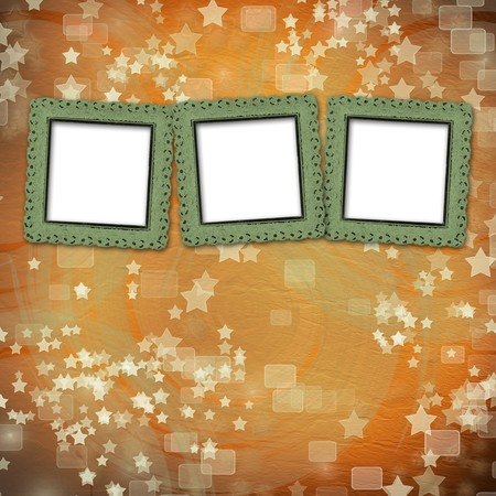 multicoloured backdrop for greetings or invitations with frames and stars Stock Photo - 7679366