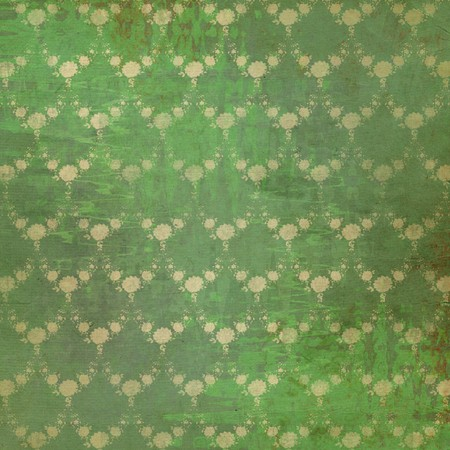 Grunge vintage background with flowers for design photo