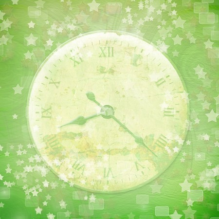 Antique clock face with star on the abstract background photo