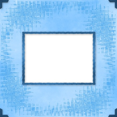 february 14th: Greeting Card to holiday with frames on the blue background