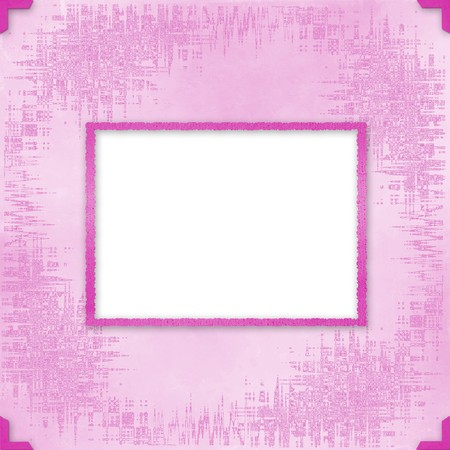 Greeting Card to holiday with frames on the pink background photo
