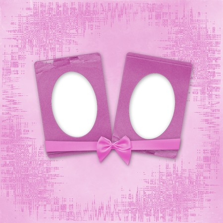 Greeting Card to holiday with frames on the pink background Stock Photo - 7913392