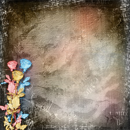 Paper roses on the abstract abstract background Stock Photo - 8156185
