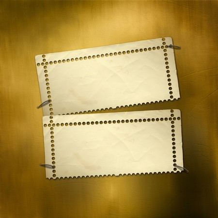 alienated: Alienated gold paper for announcement on the abstract background