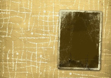 back rub: Ancient textile background with gold blank for announcement