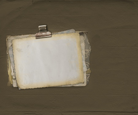 alienated: Ancient scratch background with alienated paper for announcement Stock Photo