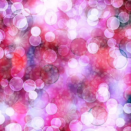 Multicoloured backdrop for greetings or invitations with blur bokeh Stock Photo