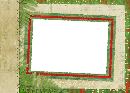 lacet: Beautiful card for congratulation or invitation with foliage