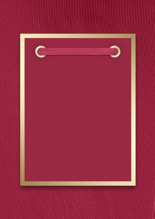 Postcard invitation to the claret background for anniversary photo