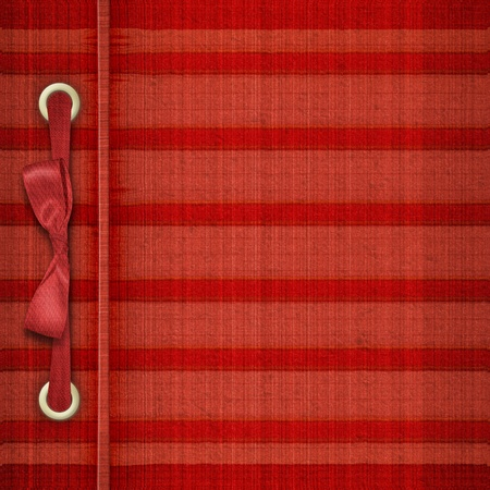 Red tartan cover for album with ribbons and bow Stock Photo - 8403468