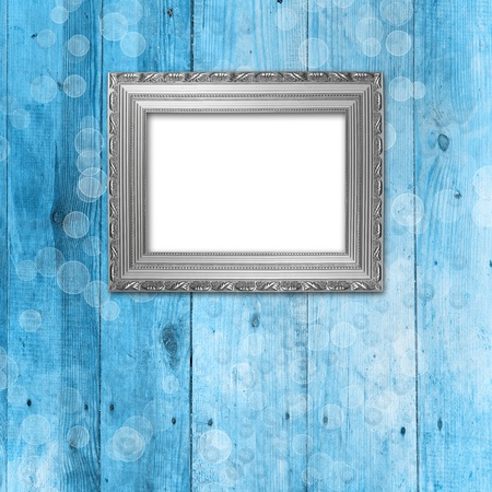 Old room, grunge  interior with frames in style baroque Stock Photo - 8530705