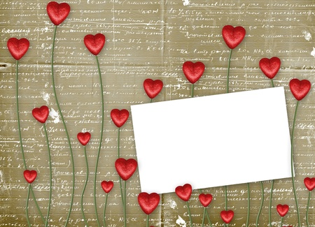 scratch card: Greeting Card to St. Valentines Day with hearts  Stock Photo