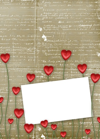 abloom: Greeting Card to St. Valentines Day with hearts  Stock Photo