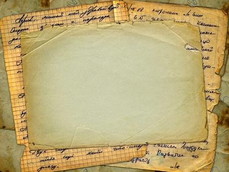 alienated: Grunge alienated paper design in scrapbooking style Stock Photo