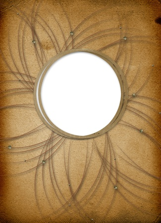 Brown backdrop with frame for greetings or invitations Stock Photo - 8715248