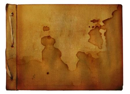 Vintage photoalbum for photos on white isolated background photo