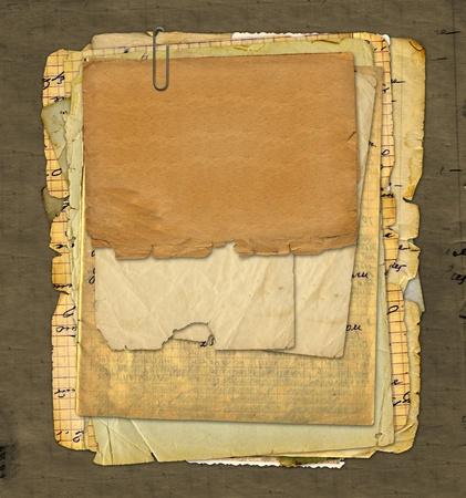 rękopis: Stare archiwum z literami, zdjÄ™cia na tle abstrakcyjna grunge