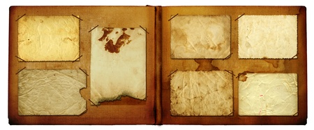 photoalbum: Vintage photoalbum for photos on white isolated background