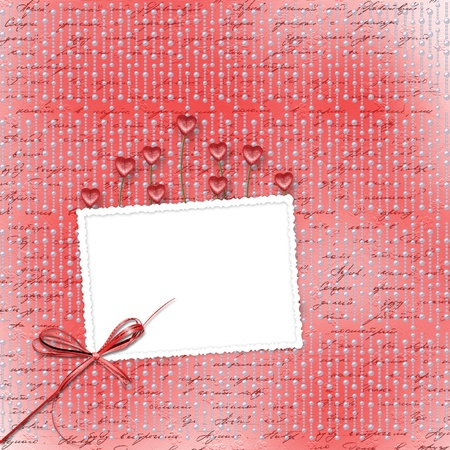 Greeting Card to St. Valentine's Day with hearts Stock Photo - 8835070