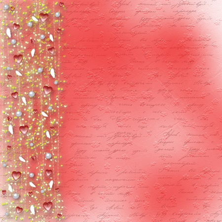 wedlock: Greeting Card to St. Valentines Day with hearts