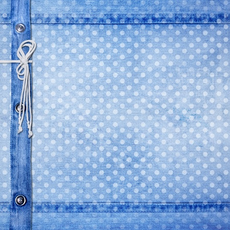 Abstract blue jeans background with rivet for design photo