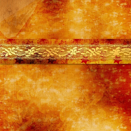 Vintage cover for album  with gold lace photo