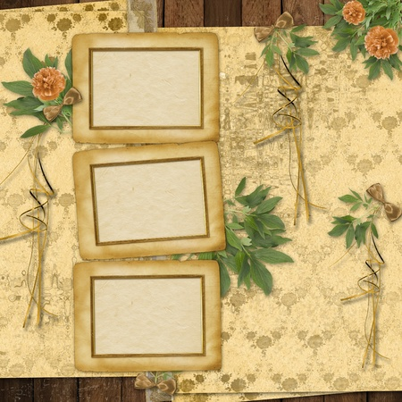 Congratulations to the holiday with frame and peony  photo