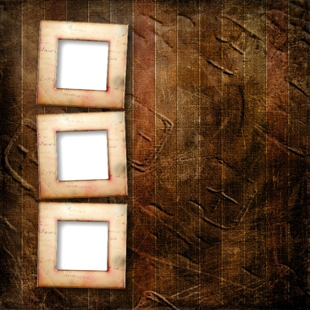 photoalbum: Old grunge frames on the ancient paper background