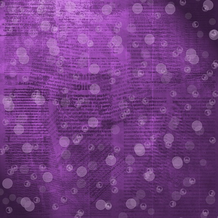 Old purple newspaper background with blur boke photo