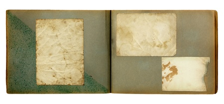 Vintage photoalbum for photos on white isolated background Stock Photo - 10070238