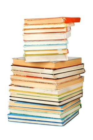 Old antique books on the white isolated background Stock Photo - 10070254