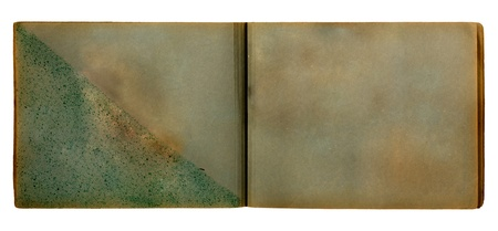 Vintage photoalbum for photos on white isolated background  Foto de archivo