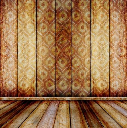 Old room, grunge industrial interior, worn surface, wooden frames Foto de archivo