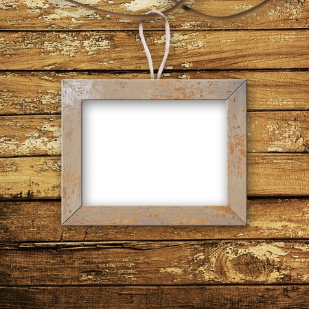 Old room, grunge  interior with frames in style baroque Stock Photo - 10281955