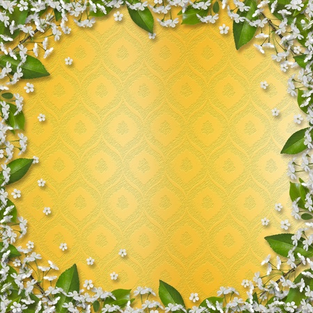 Writing abstract background with frame floral beautiful bouque photo