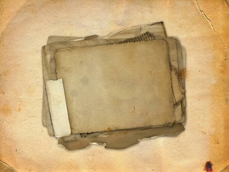 old writing: Abstract ancient brown background with set old paper in scrap booking style