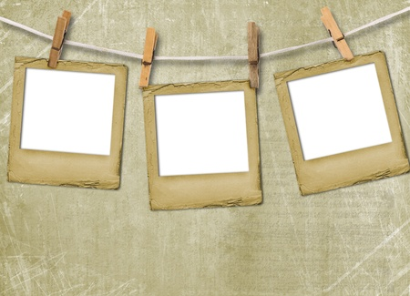 album background: Old grunge slides on the abstract paper background