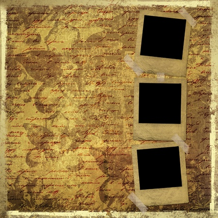 Grunge papers design in scrapbooking style with blank for text