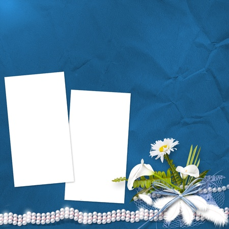 Card for anniversary with bunch of flowers  photo