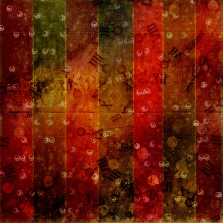 midnight time: Abstract ancient background in scrapbooking style with gold ornamentat