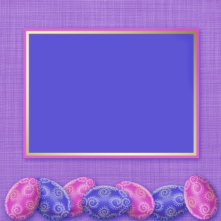 Easter Holiday. Stain eggs. Framework for a congratulation photo