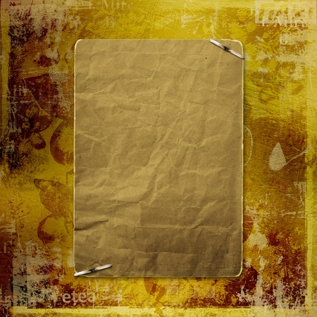 alienated: Alienated gold paper for announcement on the abstract background  Stock Photo
