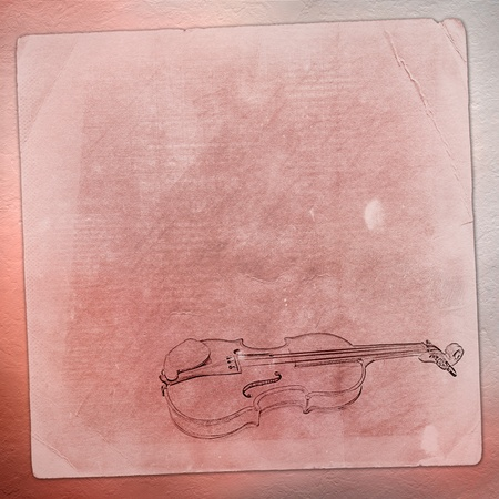 Abstract background with the sketch of an old violin  photo