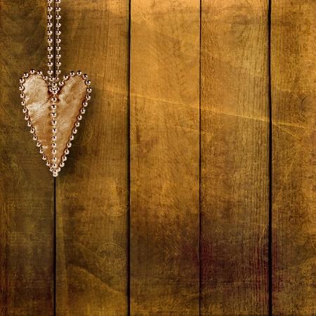 Card for congratulation or invitation with retro hearts  Stock Photo - 12072253