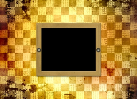 batch: Abstract chess  background for design with grunge papers Stock Photo